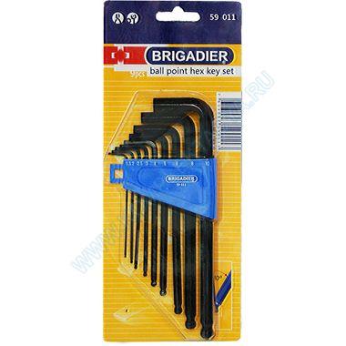 Комплект шестигранных торцевых ключей Brigadier 59011