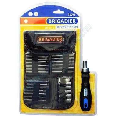 Отвёртка с вставками в чехле Brigadier 39009