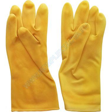 Перчатки резиновые хозяйственные с хб напылением