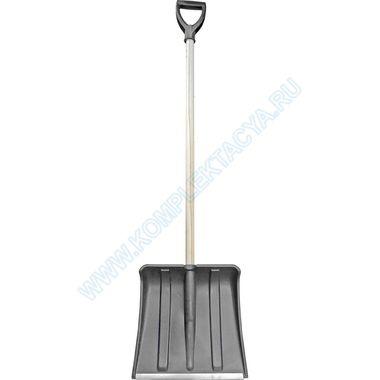 Лопата для уборки снега Снежок с деревянной ручкой