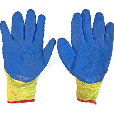Трикотажные перчатки с рельефным латексным покрытием