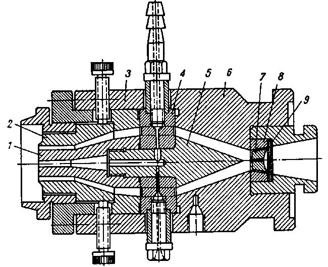 Схема головки для экструзии